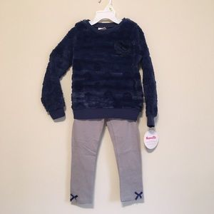 Nannette Kids blue faux fur outfit